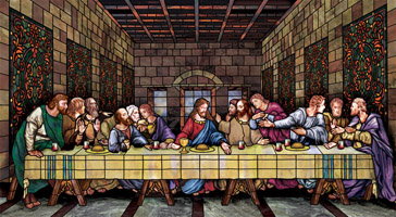 Last Supper church baptistery mural