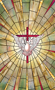 Radiant dove church baptistery mural