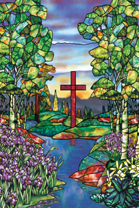 River of Life Church baptistery Mural