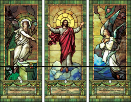 Triptych Window baptistery mural