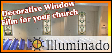 Illuminado decorative church stained glass window film link
